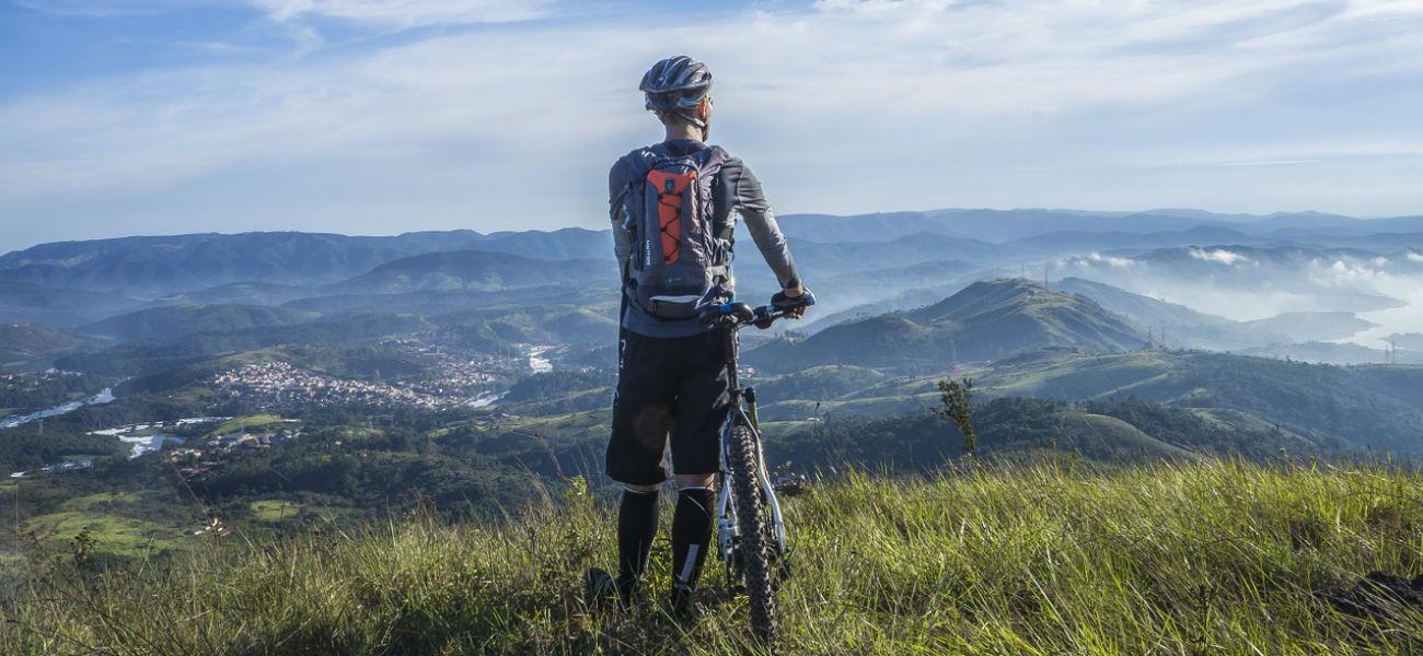 mountain bike collina panorama
